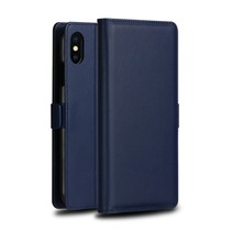 Dzgogo Booktype Hoesje iPhone XS Max - Donker Blauw