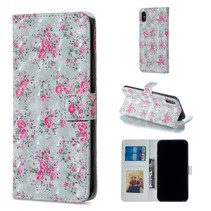 Bloemen Booktype Hoesje iPhone XS Max