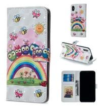 Dieren en Bloemen Booktype Hoesje iPhone XS Max