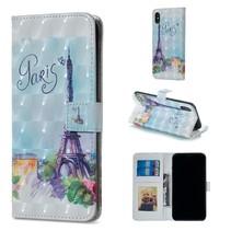 Eiffeltoren Booktype Hoesje iPhone XS Max