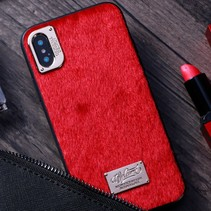 Hybrid Hoesje iPhone XS Max - Rood