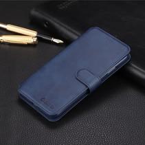 Azns Booktype Hoesje iPhone XS Max - Blauw