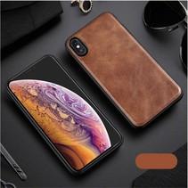 X-level Lederen Backcover Hoesje iPhone XS Max - Bruin