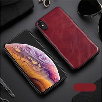 X-level Lederen Backcover Hoesje iPhone XS Max - Rood