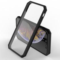 Leeu Design Hybrid Hoesje iPhone XS Max - Zwart