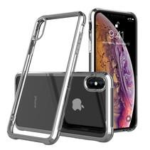 Leeu Design TPU Hoesje iPhone XS Max - Zilver