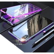 Hardcase Hoesje iPhone XS Max - Paars / Zwart