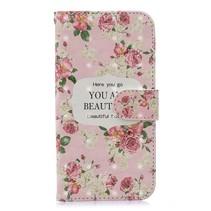 Bloemen Booktype Hoesje iPhone XS Max