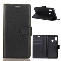 Litchee Booktype Hoesje Asus ZenFone 5Z - Zwart