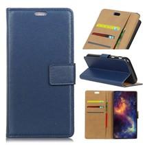 Booktype Hoesje Blackberry Key2 - Blauw