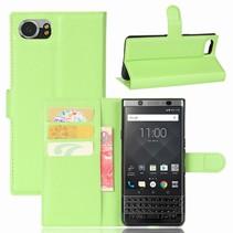 Litchee Booktype Hoesje Blackberry KeyOne - Groen
