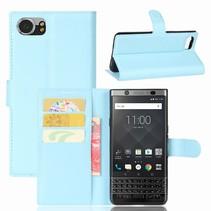 Litchee Booktype Hoesje Blackberry KeyOne - Blauw