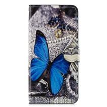 Blauwe Vlinder Booktype Hoesje Honor 8x