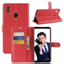 Litchee Booktype Hoesje Honor Note 10 - Rood