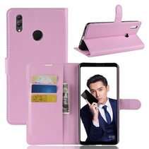 Litchee Booktype Hoesje Honor Note 10 - Roze