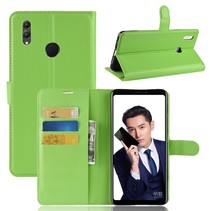 Litchee Booktype Hoesje Honor Note 10 - Groen