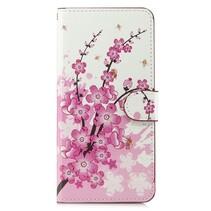 Roze Bloesem Booktype Hoesje Samsung Galaxy A7 2018