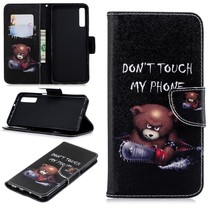 Don't Touch My Phone Booktype Hoesje Samsung Galaxy A7 2018