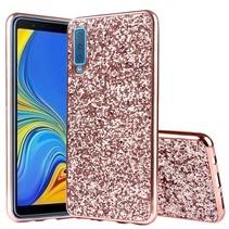 Hybrid Hoesje Samsung Galaxy A7 2018 - Roze / Goud