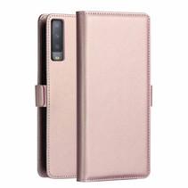Dzgogo Booktype Hoesje Samsung Galaxy A7 2018 - Roze / Goud