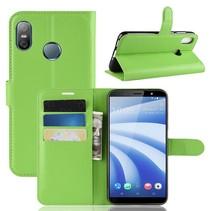 Litchee Booktype Hoesje HTC U12 Life - Groen
