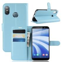 Litchee Booktype Hoesje HTC U12 Life - Blauw