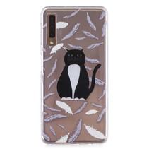 Kat TPU Hoesje Samsung Galaxy A7 2018