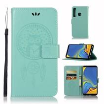 Dromenvanger Booktype Hoesje Samsung Galaxy A9 (2018) - Cyaan