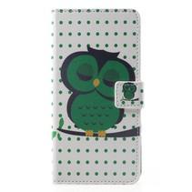 Groene Uil Booktype Hoesje Huawei Mate 20