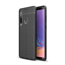 Litchee TPU Hoesje Samsung Galaxy A9 (2018) - Zwart