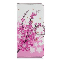 Roze Bloesem Booktype Hoesje Huawei Mate 20