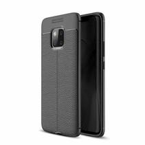 Litchee TPU Hoesje Huawei Mate 20 Pro - Zwart