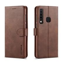 Lc.Imeeke Booktype Hoesje Samsung Galaxy A9 (2018) - Koffie