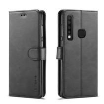 Lc.Imeeke Booktype Hoesje Samsung Galaxy A9 (2018) - Zwart