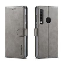 Lc.Imeeke Booktype Hoesje Samsung Galaxy A9 (2018) - Grijs