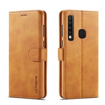 Lc.Imeeke Booktype Hoesje Samsung Galaxy A9 (2018) - Bruin