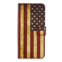 Amerikaanse Vlag Booktype Hoesje Huawei Mate 20 Pro