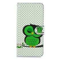 Groene Uil Booktype Hoesje Huawei Mate 20 Pro