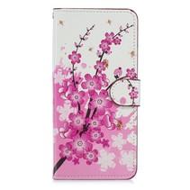 Roze Bloesem Booktype Hoesje Huawei Mate 20 Pro