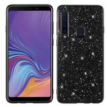 Glitters Hybrid Hoesje Samsung Galaxy A9 (2018) - Zwart