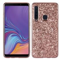 Glitters Hybrid Hoesje Samsung Galaxy A9 (2018) - Roze / Goud