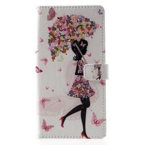 Paraplu Meisje Booktype Hoesje Huawei Mate 20 Pro