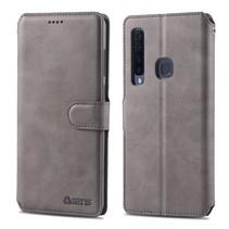 Azns Booktype Hoesje Samsung Galaxy A9 (2018) - Grijs