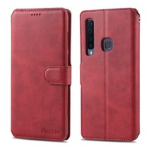 Azns Booktype Hoesje Samsung Galaxy A9 (2018) - Rood