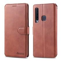 Azns Booktype Hoesje Samsung Galaxy A9 (2018) - Bruin