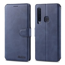 Azns Booktype Hoesje Samsung Galaxy A9 (2018) - Blauw