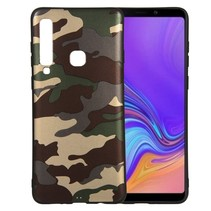 Camouflage TPU Hoesje Samsung Galaxy A9 (2018) - Groen