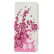 Roze Bloesem Booktype Hoesje Samsung Galaxy A9 (2018)