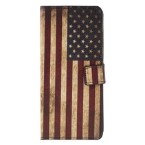Amerikaanse Vlag Booktype Hoesje Samsung Galaxy A9 (2018)