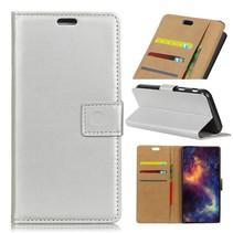 Booktype Hoesje Samsung Galaxy A9 (2018) - Zilver